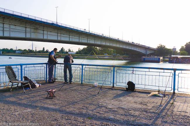 Serbia, Belgrade, Fishermen