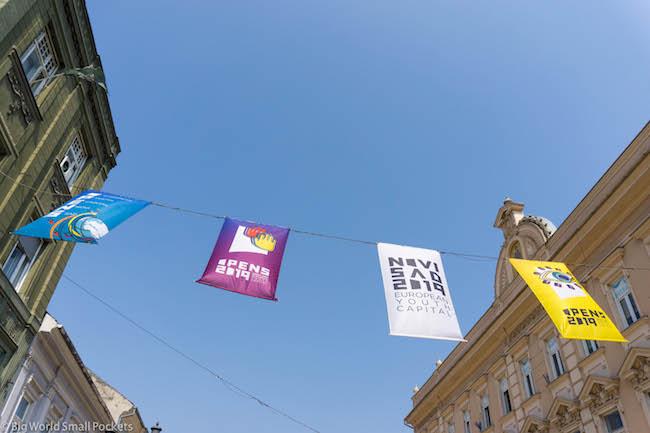 Serbia, Novi Sad, Flags