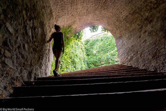 Serbia, Novi Sad, Me in Fortress Tunnel