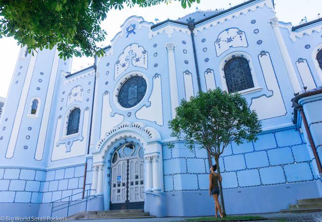 Slovakia, Bratislava, Blue Church