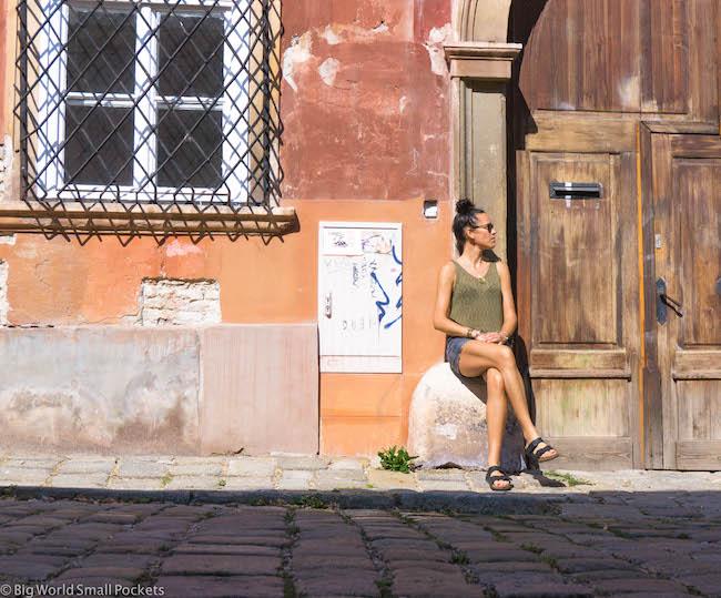 Slovakia, Bratislava, Me and Street