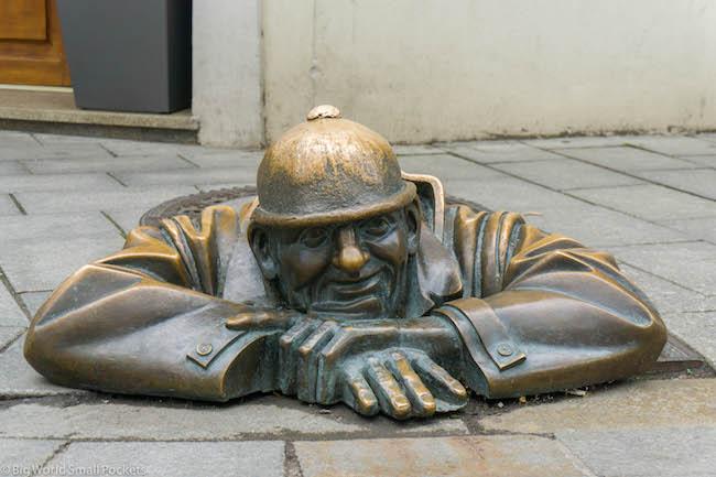 Slovakia, Bratislava, Street Sculpture