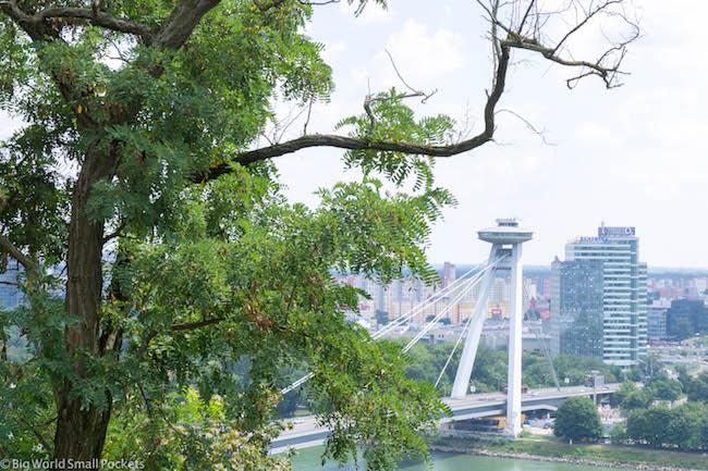 Slovakia, Bratislava, UFO Bridge