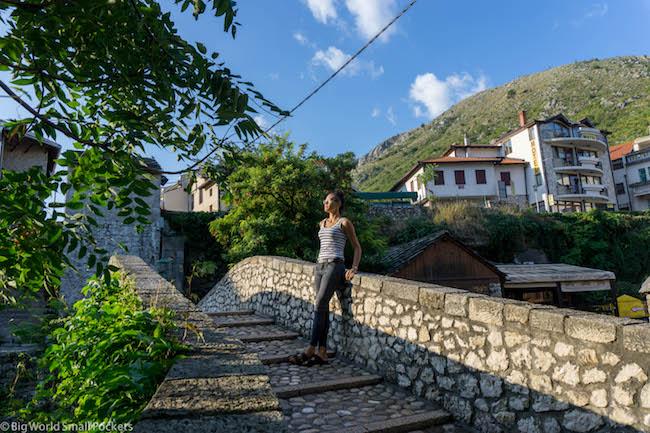 Bosnia, Mostar, Crooked Bridge