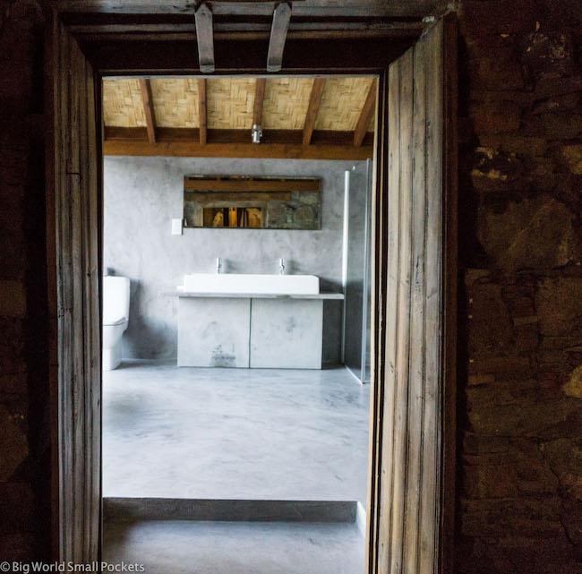 Cyprus, Lyhnos, Bathroom Doorway