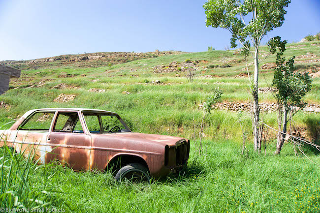Lebanon, Cedars, Old Car