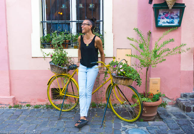 Romania, Sighisoara, Me and Bicycle