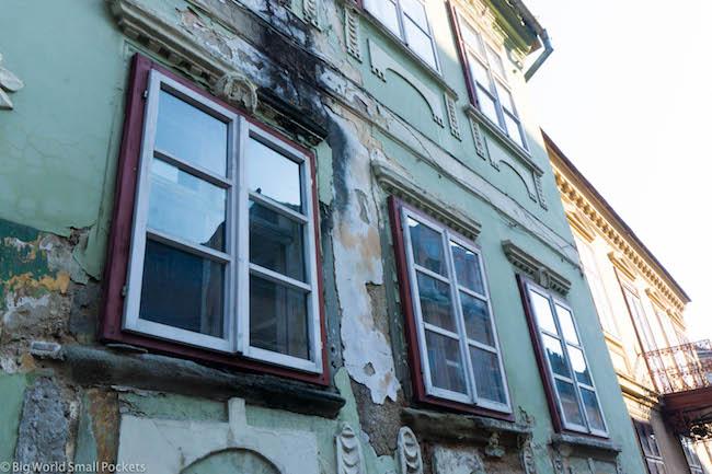Romania, Sighisoara, Windows