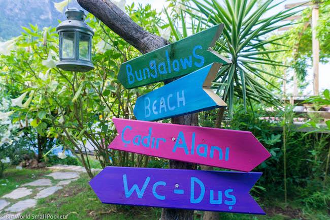 Turkey, Kabak, Camping Signs