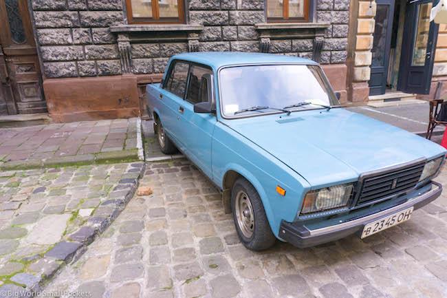 Ukraine, Lviv, Car