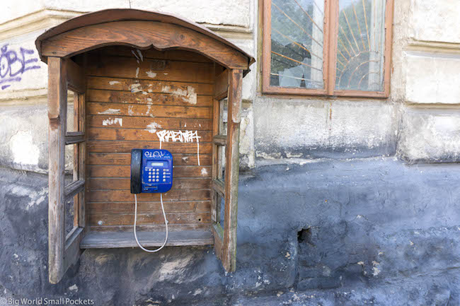 Ukraine, Lviv, Phone