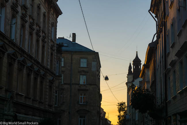 Ukraine, Lviv, Sunset