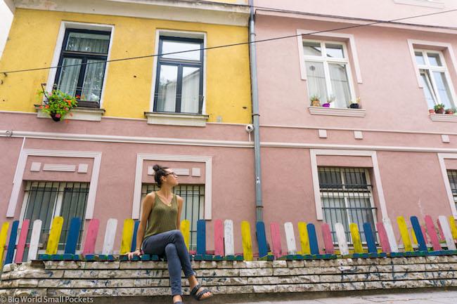 Bosnia, Sarajevo, Me and Coloured Buildings