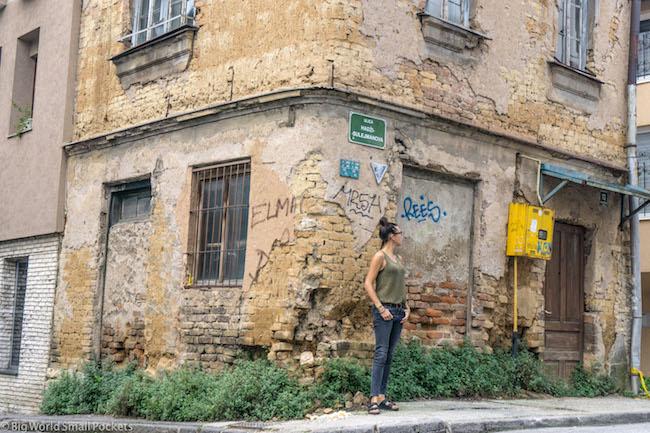 Bosnia, Sarajevo, Me on Corner
