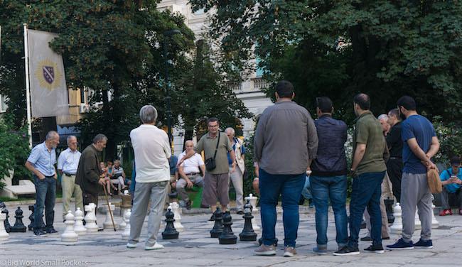 Bosnia, Sarajevo, Men Playing Chess