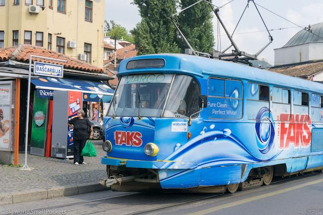 Bosnia, Sarajevo, Tram