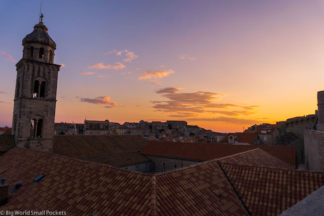Croatia, Dubrovnik, Sunset Sky
