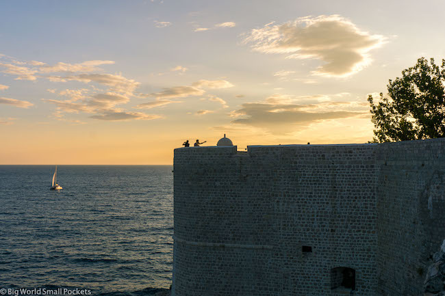 Croatia, Dubrovnik, Sunset Walls