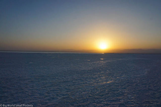 Ethiopia, Danakil Depression, Lake Asale Sun