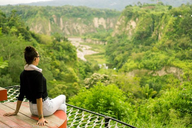 Indonesia, Bukittinggi, Me in Panoramic Park