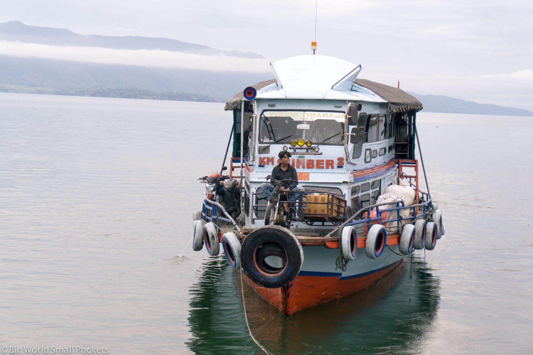 Indonesia, Lake Toba, Boat