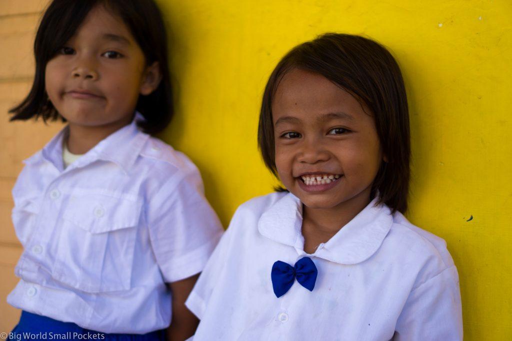 Indonesia, Lake Toba, Girls at School