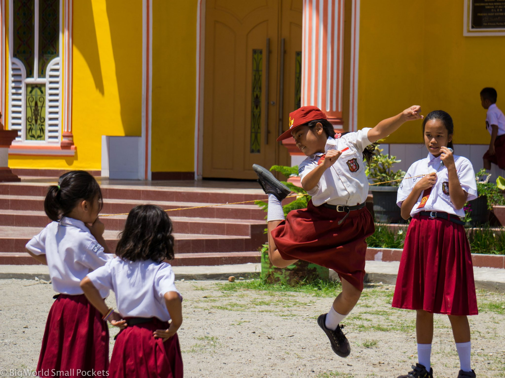 Indonesia, Lake Toba, School Kids