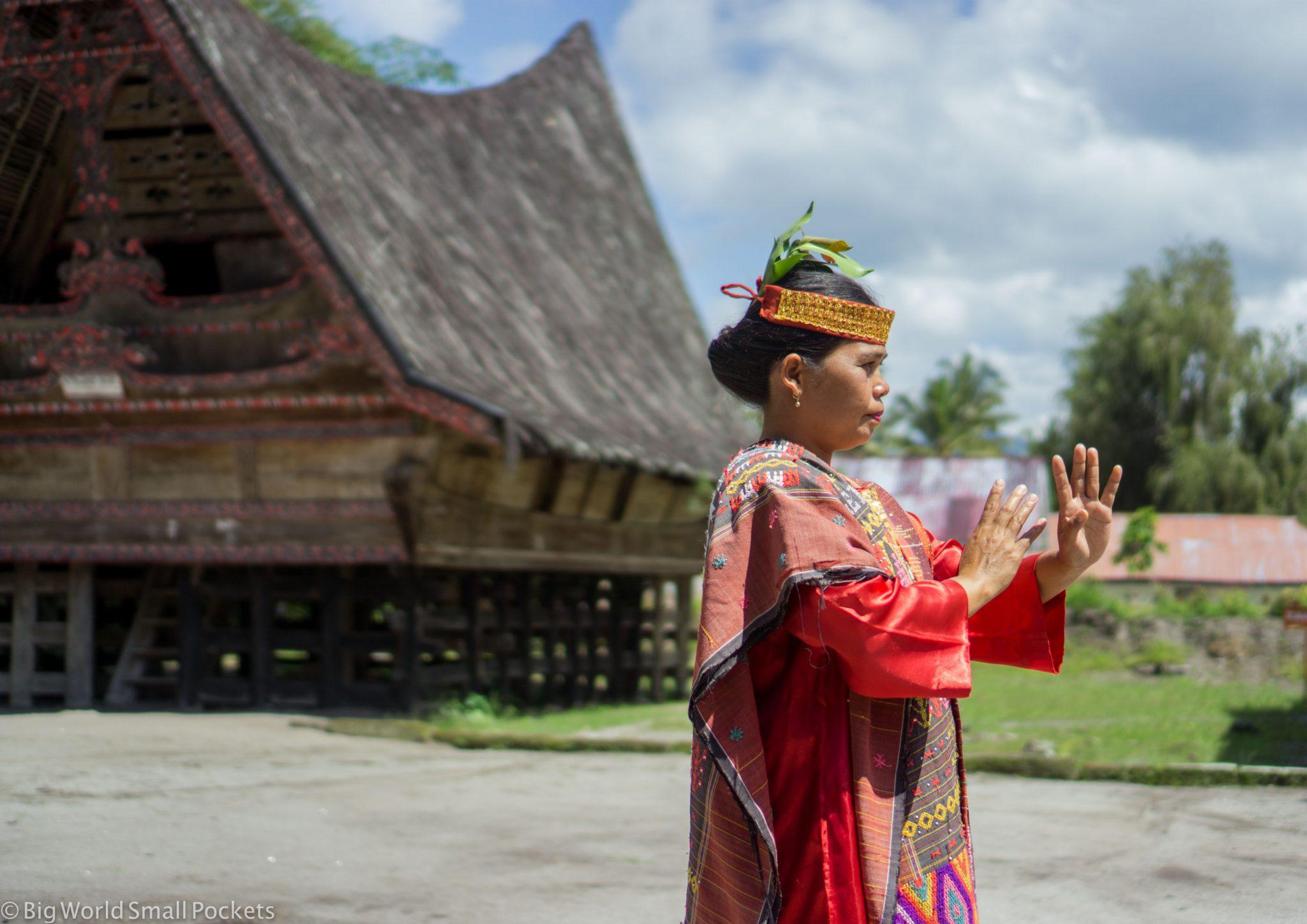 Indonesia, Lake Toba, Traditional Dancer