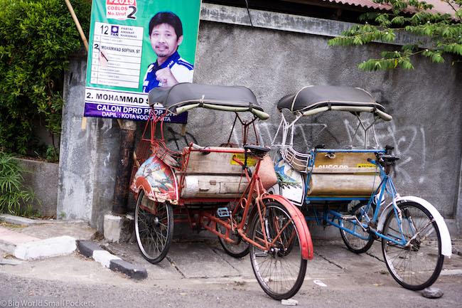 Indonesia, Yogyakarta, 2 Becak