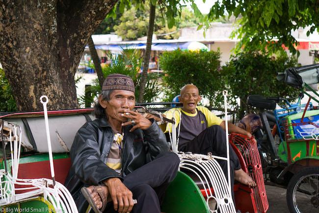 Indonesia, Yogyakarta, Becak