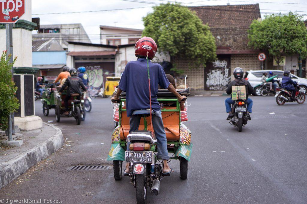 Indonesia, Yogyakarta, Motorbike