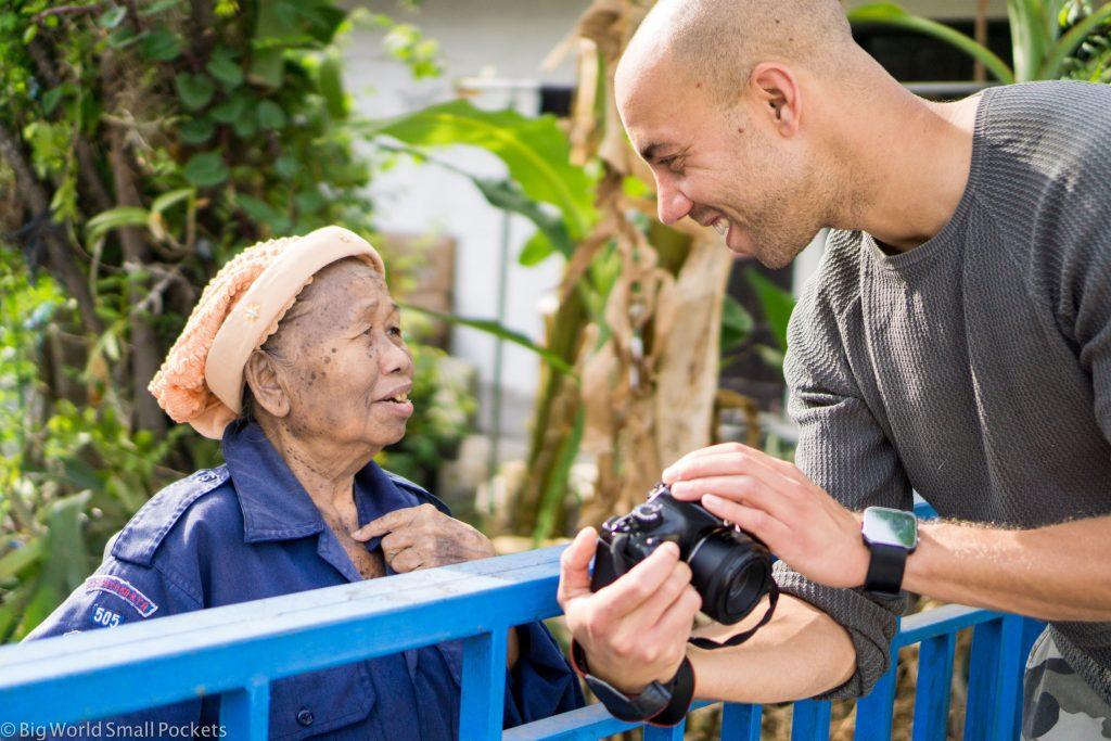 Indonesia, Yogyakarta, Old Woman