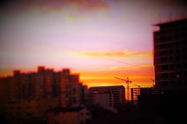 Kosovo, Pristina, Sunset