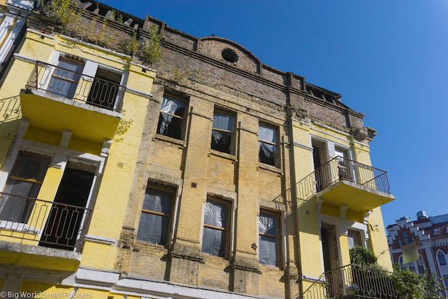 Ukraine, Kiev, Crumbling Building