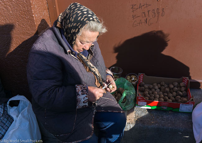 Ukraine, Kiev, Walnut Seller