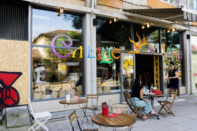 Bulgaria, Sofia, Cafe