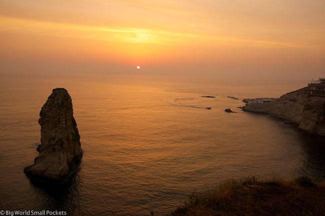 Lebanon, Beirut, Pigeon Rocks