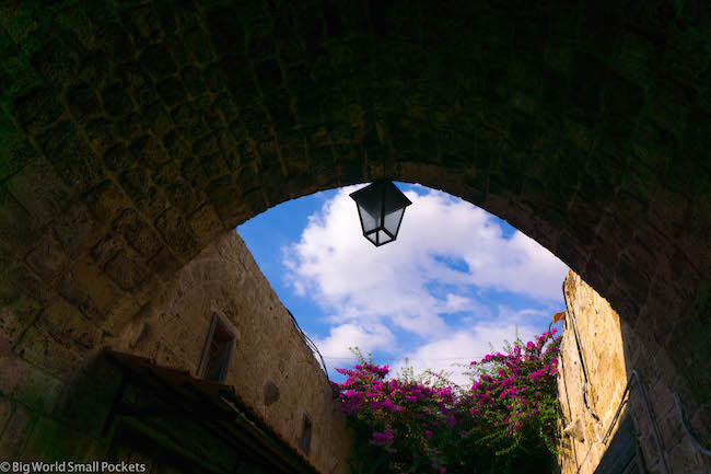 Lebanon, Byblos, Sky with Lamp