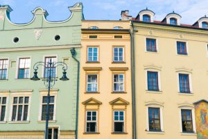 Poland, Krakow, Townhouses