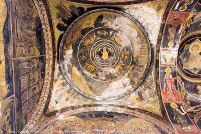 Romania, Bucharest, Church Ceiling
