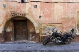 Ukraine, Lviv, Bike and Doorway