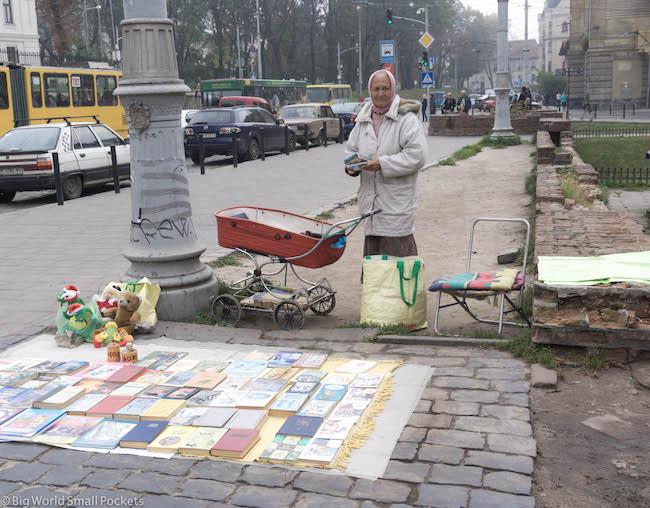 Ukraine, Lviv, Book Market