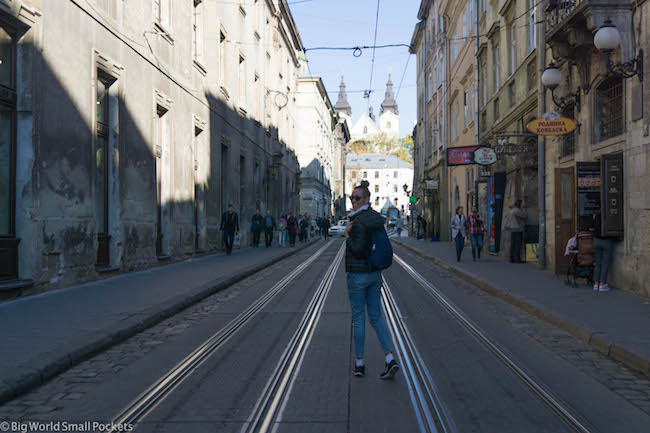 Ukraine, Lviv, Me and Tram Lines