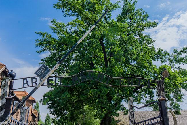 Poland, Auschwitz, Entrance
