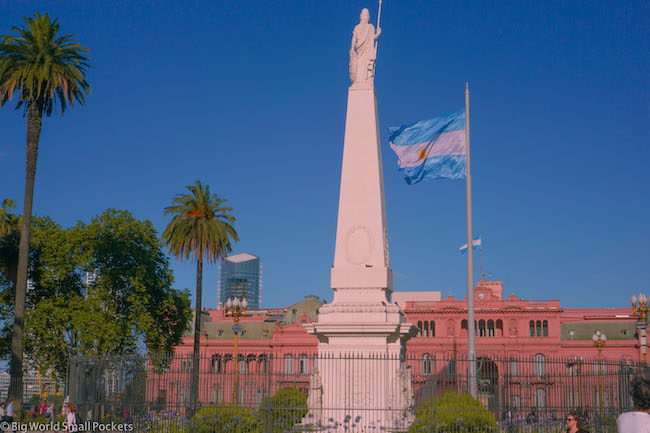 Argentina, Buenos Aires, Pink Building