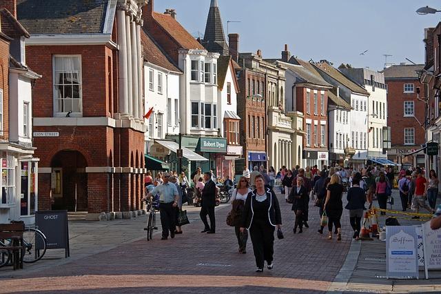 England, Chichester, Street