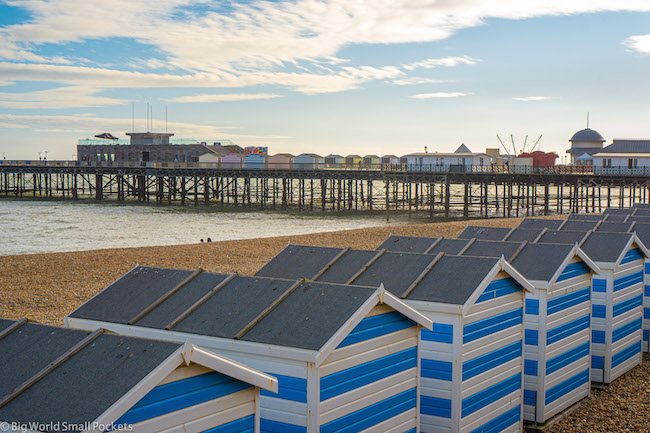 England, Sussex, Hastings Beach Huts