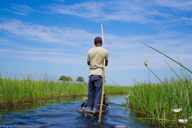 Botswana, Okavango Delta, Mokoro Ride