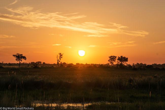 Botswana, Okavango Delta, Sunset