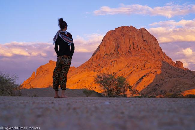 Namibia, Spitzkoppe, Me at Sunrise